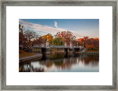Boston Public Garden Framed Print