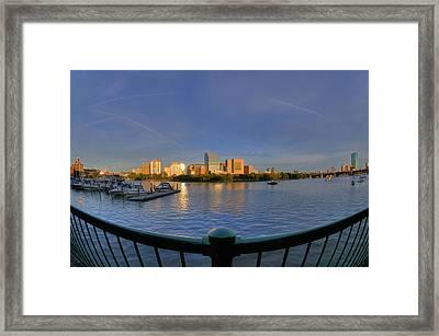 Boston Skyline From Memorial Drive Framed Print by Joann Vitali