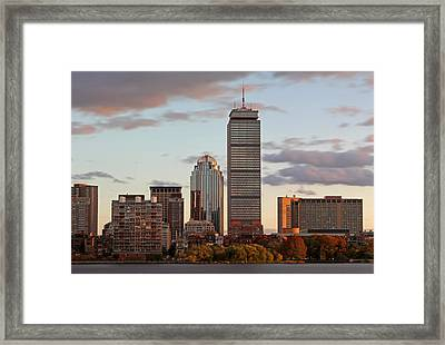 Boston Skyline Framed Print by Juergen Roth