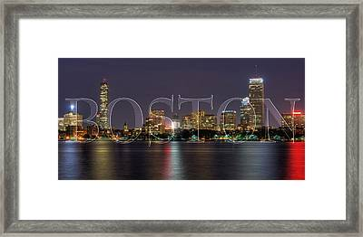 Boston Skyline Poster Framed Print