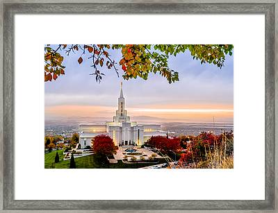 Bountiful Temple Leaves Framed Print by La Rae  Roberts