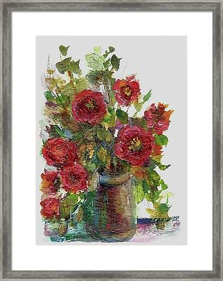Framed Print featuring the painting Bouquet Of Poppies by Mary Wolf