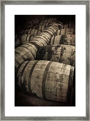 Bourbon Barrels Framed Print by Karen Varnas