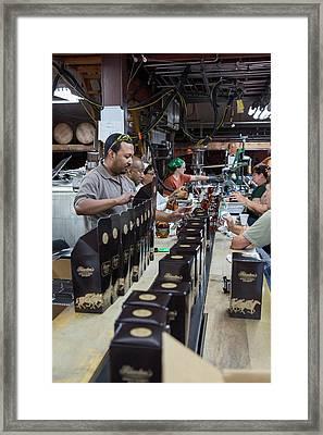 Bourbon Bottling Production Line Framed Print by Jim West