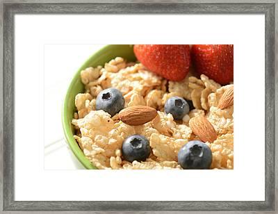 Bowl Of Cereal Framed Print