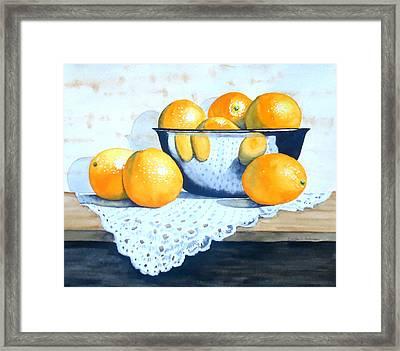 Bowl Of Oranges Framed Print