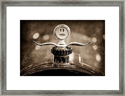 Boyce Motometer - Hood Ornament Framed Print by Jill Reger