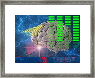 Brain Activity, Conceptual Artwork Framed Print by Science Photo Library