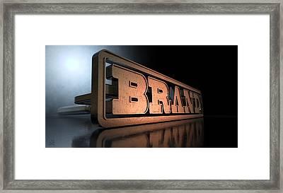 Branding Brand Concept Framed Print