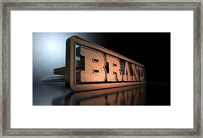 Branding Brand Concept Framed Print by Allan Swart