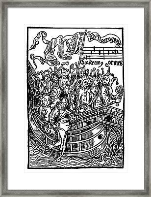 Brant Ship Of Fools Framed Print