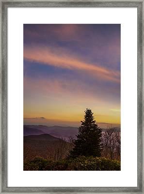 Brasstown Bald Sunset Framed Print by Debra and Dave Vanderlaan