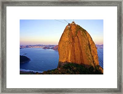 Brazil, Rio De Janeiro, Cable Car Framed Print