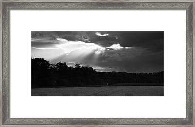 Breaking Storm Framed Print
