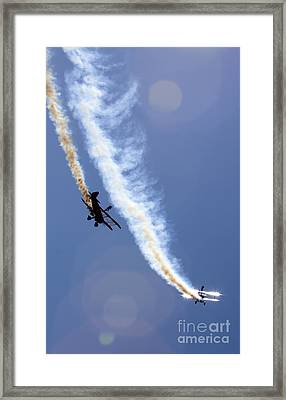 Breitling Wingwalkers Framed Print by Angel  Tarantella