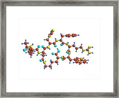 Bremelanotide Drug Molecule Framed Print