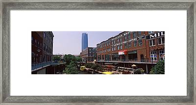 Bricktown Mercantile Building Framed Print by Panoramic Images