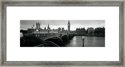 Bridge Across A River, Westminster Framed Print by Panoramic Images