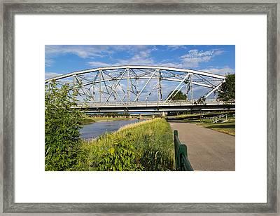 2 Bridges Framed Print by Scott Grassel