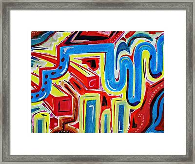Bright Lights Big City Framed Print by Kiara Reynolds