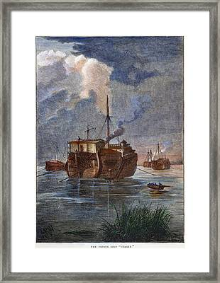 British Prison Ship Framed Print