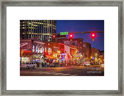 Broadway Street Nashville Framed Print by Brian Jannsen
