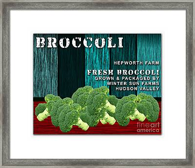 Broccoli Farm Framed Print