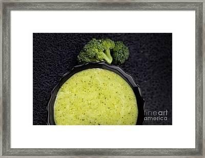 Broccoli Soup Framed Print