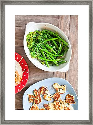 Broccoli Stems Framed Print