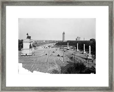 Brooklyn Grand Army Plaza Framed Print by Granger