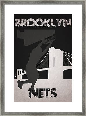 Brooklyn Nets Framed Print by Joe Hamilton