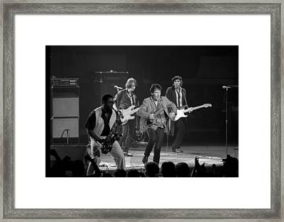 Bruce Springsteen And The E Street Band Framed Print