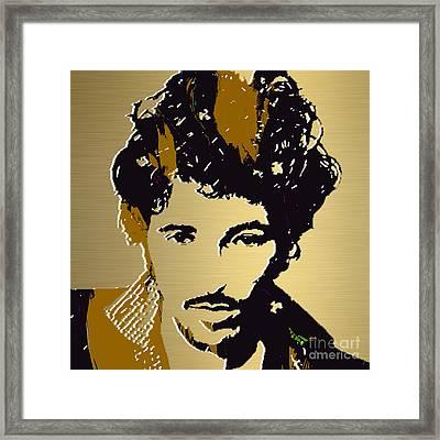 Bruce Springsteen Gold Series Framed Print by Marvin Blaine