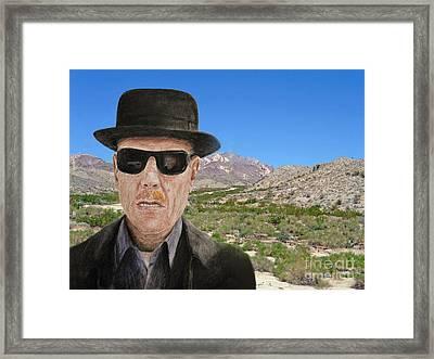 Bryan Cranston As Walter White In Breaking Bad Framed Print
