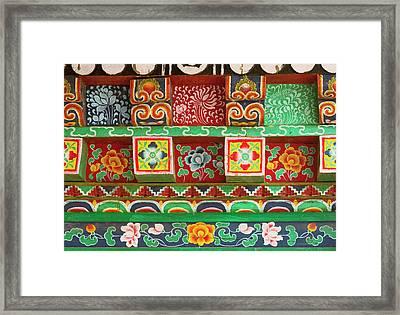 Buddhist  Monastery In Sikkim India Framed Print