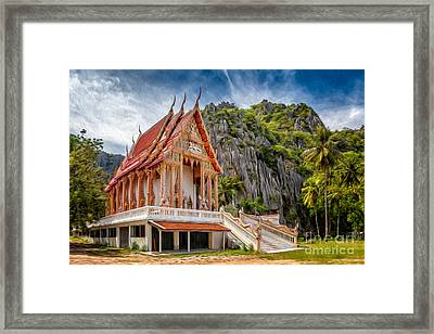 Buddhist Temple Framed Print by Adrian Evans