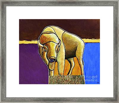 Framed Print featuring the painting Buffalo 1 by Joseph J Stevens