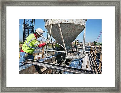 Building Flood Wall Framed Print by Jim West