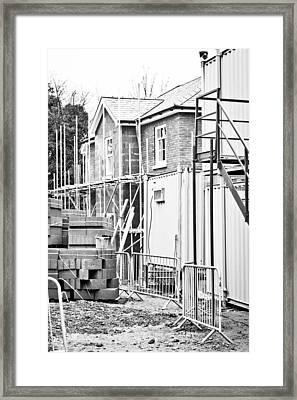 Building Site Framed Print