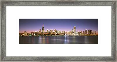 Buildings At The Waterfront, Chicago Framed Print