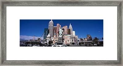 Buildings In A City, New York New York Framed Print