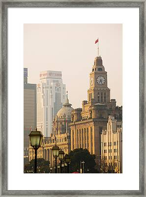 Buildings In A City, The Bund Framed Print