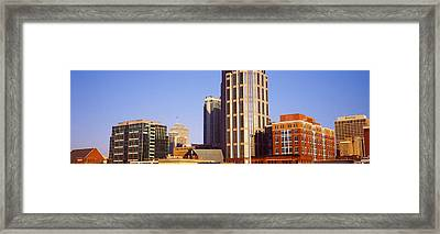 Buildings In A Downtown District Framed Print by Panoramic Images
