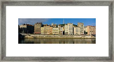 Buildings On The Waterfront, Saone Framed Print by Panoramic Images