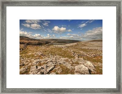 Burren Limestone Landscape Framed Print by John Quinn