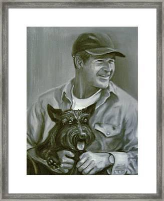 Bush And Barney Framed Print