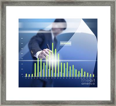 Business Abstract Framed Print