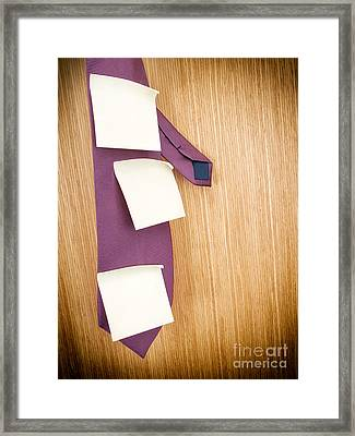 Business Schedule Framed Print by Sinisa Botas