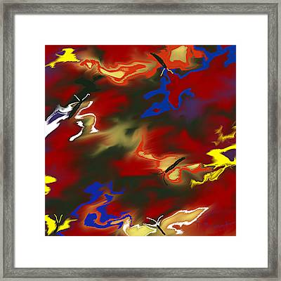 Butterflies' Dance Framed Print by Thomas Bryant