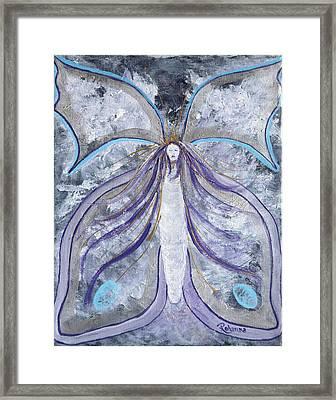 Butterfly Goddess Framed Print by Judy M Watts-Rohanna
